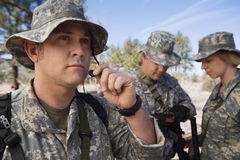 Soldiers In Field Royalty Free Stock Photography
