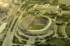 Soldiers Filed Stadium in Chicago Royalty Free Stock Images