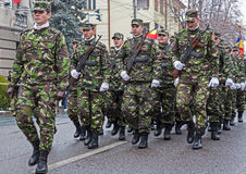 Soldiers in formation Stock Images