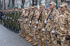 Soldiers in formation Stock Image