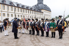 Soldiers of Frederick II the Great Royalty Free Stock Photo