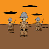 Soldiers. Game war illustration Royalty Free Stock Photography