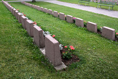 Soldiers' graves Stock Photography