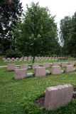 Soldiers' graves Stock Image