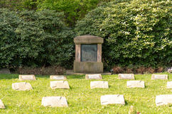 Soldiers Graves. Memorial, fallen of the 1st and 2 world War I Stock Images