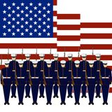 Soldiers of the Guard of Honour of the USA Stock Photos