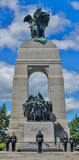 Soldiers on Guard at National War Memorial in Canada Stock Photos