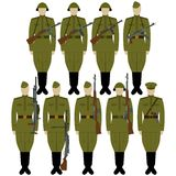 Soldiers with guns of World War II Royalty Free Stock Photos