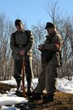 Soldiers of Hitler s army. Reconstruction of hostilities in the Valley of glory death in the Murmansk region on may 10, 2013 Army of Narvik in anticipation of stock images
