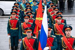 Soldiers of the honorary presidential guard of the Russian Federation royalty free stock image