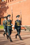 Soldiers of honourable I punished march. Moscow Stock Photos
