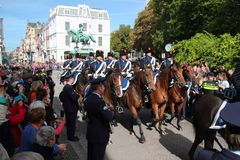 Soldiers on horse during the Prince day Parade in The Hague Royalty Free Stock Photography