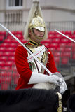 Soldiers from the Household Cavalry Regiment. At Horseguards Parade. Stock Image