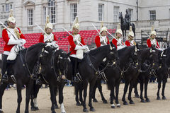 Soldiers from the Household Cavalry Regiment. At Horseguards Parade. Royalty Free Stock Photos