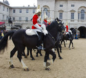 Soldiers from the Household Cavalry Regiment. At Horseguards Parade. Royalty Free Stock Images
