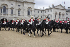 Soldiers from the Household Cavalry Regiment. At Horseguards Parade. Royalty Free Stock Photography