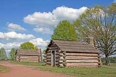 Soldiers Huts at Valley Forge Stock Photos