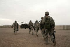 Free Soldiers In Helicopter In Iraq Stock Images - 6401184