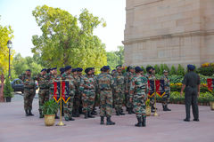 The soldiers of India Gate in Delhi Stock Image