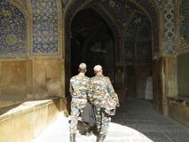soldiers Isfahan stock image
