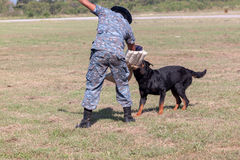 Soldiers from the K-9 dog unit Stock Photos