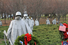 Soldiers korean war memorial Royalty Free Stock Image