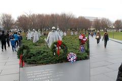 Soldiers korean war memorial royalty free stock photography