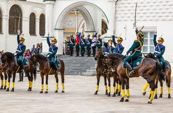 Soldiers of Kremlin regiment Royalty Free Stock Photo