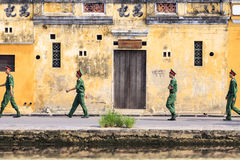 Soldiers on leave.Hoi An,VieTnam Royalty Free Stock Images