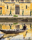 Soldiers on leave.Hoi An,VieTnam Stock Photo