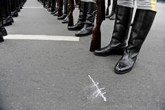 Soldiers in line formation Stock Photography