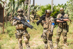 Soldiers on maneuvers Stock Photo