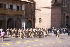 Soldiers march in formation Royalty Free Stock Photography