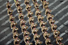 Soldiers marching Royalty Free Stock Image