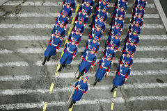 Soldiers marching Stock Images
