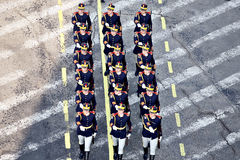 Soldiers marching Stock Photos