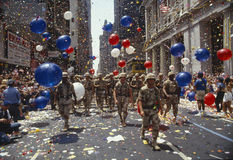Free Soldiers Marching In Ticker Tape Parade, NY Stock Photos - 23150653