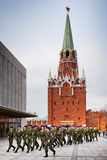 Soldiers marching in the Kremlin Stock Photo