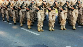 Soldiers marching stock footage