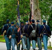 Soldiers marching on the 4th of july Stock Image