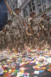 Soldiers Marching in Ticker Tape Parade, New York City, New York Royalty Free Stock Photography