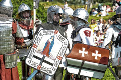 Soldiers of the Middle Ages Royalty Free Stock Image