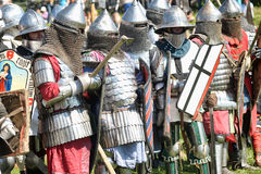 Soldiers of the Middle Ages Stock Image