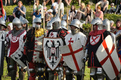 Soldiers of the Middle Ages Royalty Free Stock Photography