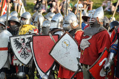 Soldiers of the Middle Ages Royalty Free Stock Photo