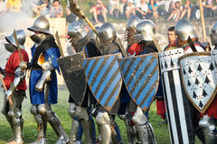 Soldiers of the Middle Ages Stock Photo