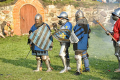 Soldiers of the Middle Ages Stock Photography