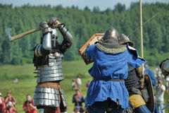 Soldiers of the Middle Ages Royalty Free Stock Photos