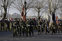 Soldiers at militar parade in Latvia Stock Photo