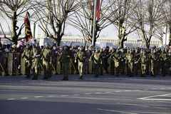 Soldiers at militar parade in Latvia Stock Photography